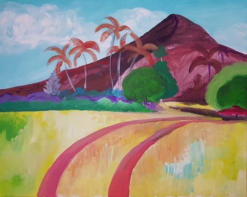 Gaugains Tahitian Landscape