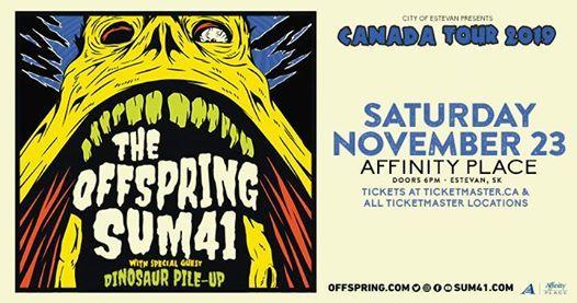 The Offspring & Sum 41 w Dinosaur Pile Up - November 23