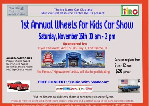 Dyer Chevrolet Fort Pierce >> Multicultural Resource Center Children S Charity Car Show At