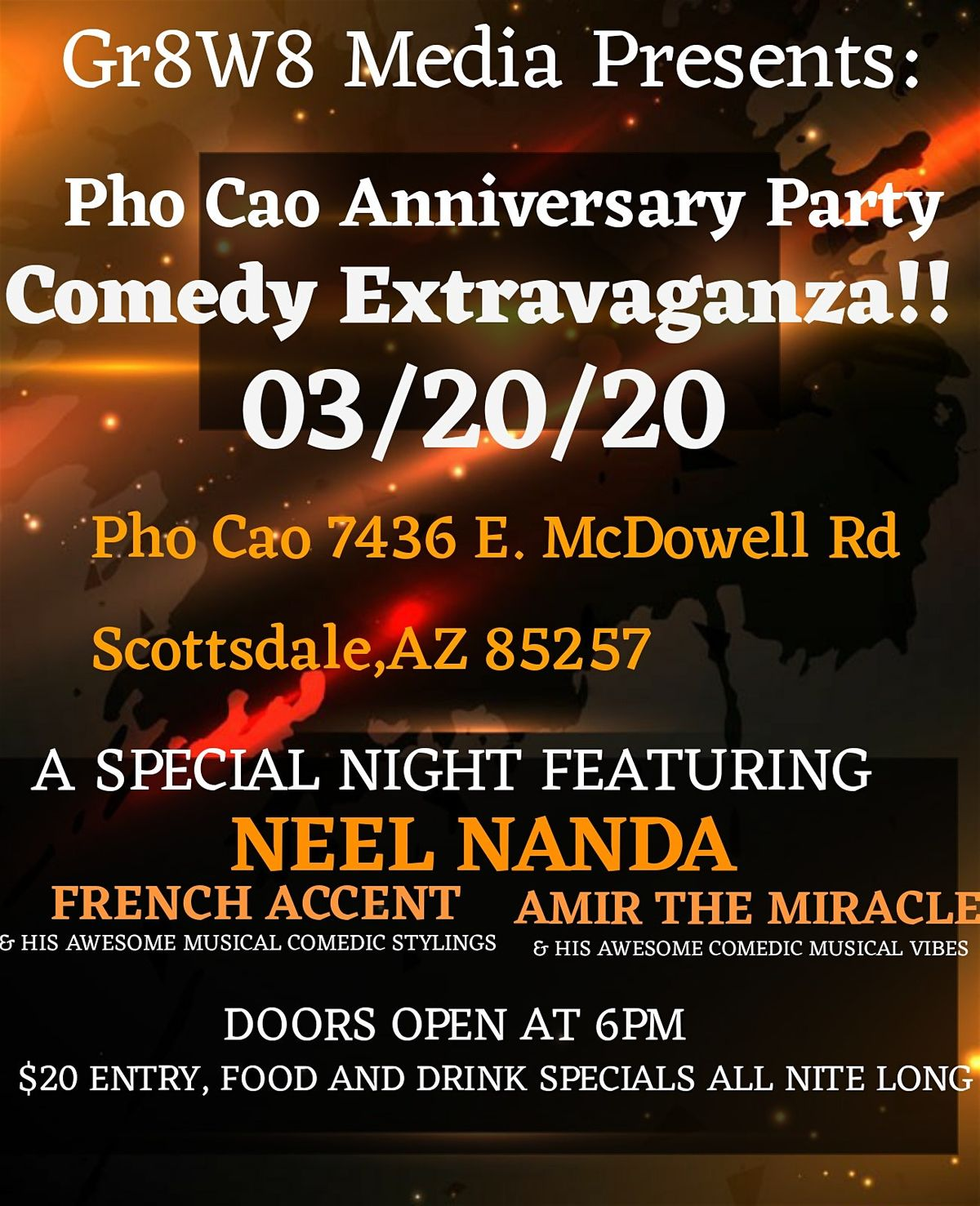 Pho Cao Anniversary Party Show At Phở Cao Scottsdale