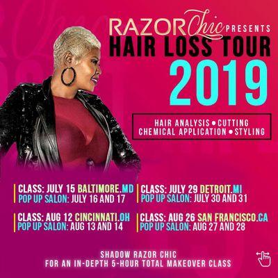 Razor Chic Jackson Hair Loss Tour 2019