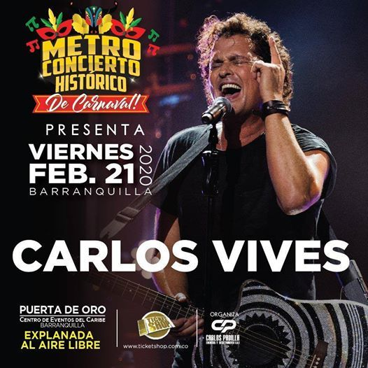 Carlos Vives  Metro Concierto Barranquilla