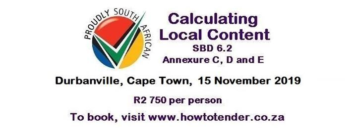 Calculating Local Content Workshop