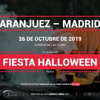 Fiesta Halloween con Dj Jean en Pause&ampPlay El Deleite