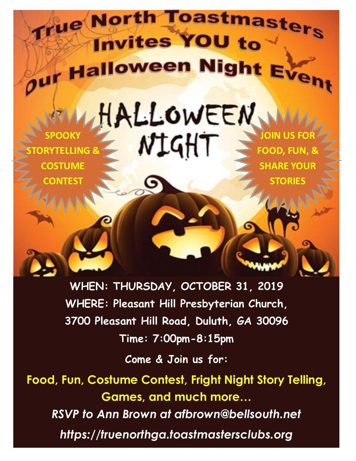 Duluth Halloween Events 2020.Halloween Story Telling Event At Pleasant Hill Presbyterian