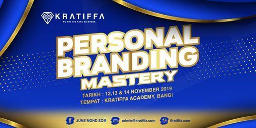 Personal Branding Mastery 1213 & 14 November 2019