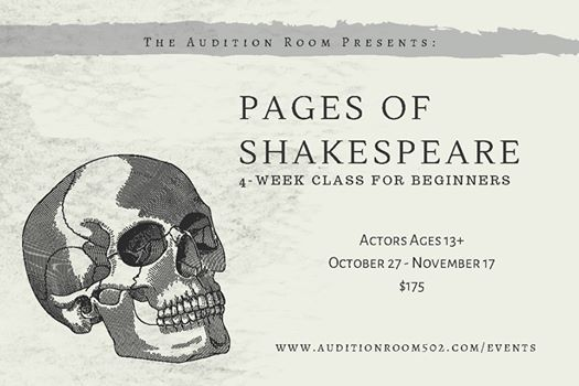 Pages of Shakespeare 4-Week Class for Beginners
