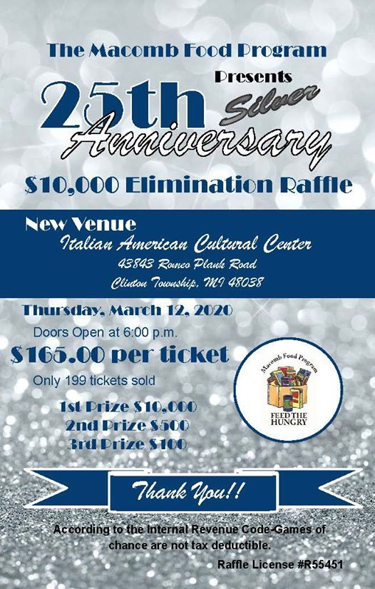 The 25th Silver Anniversary Elimination Raffle