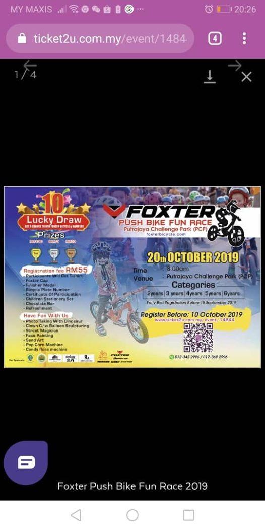 Foxter PUSH Bike Fun Race