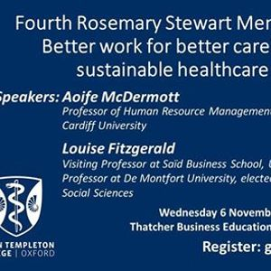 Fourth Rosemary Stewart Memorial Lecture
