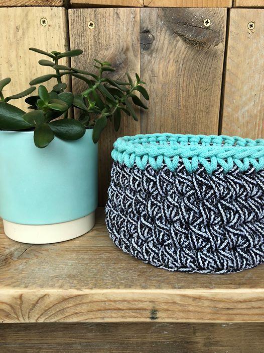Make Your Own Crochet Cotton Basket