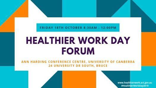 Healthier Work Day 2019 Forum
