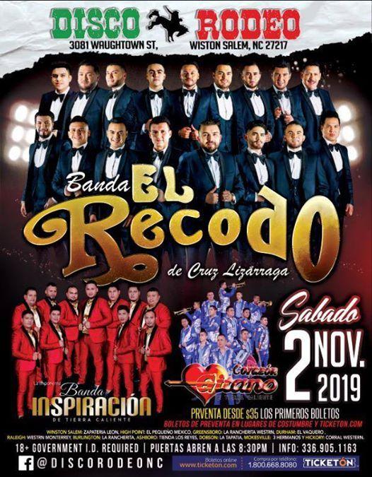 Banda El Recodo Winston Salem Nc At Disco Rodeo