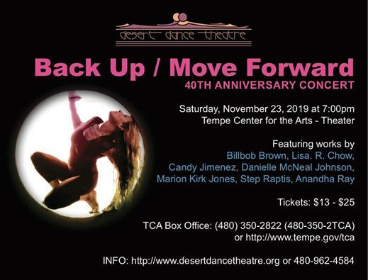 Desert Dance Theatres Back UpMove Forward 40th Year Concert
