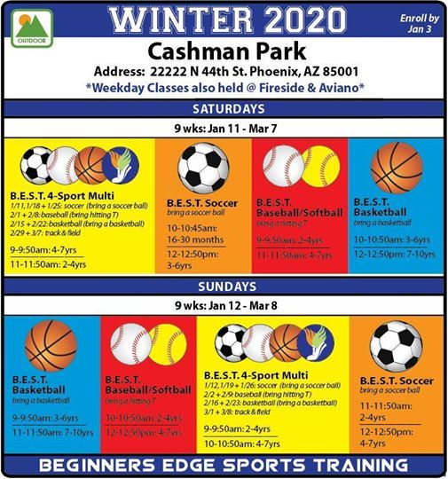 Winter 2020 Classes.Best Cashman Park Winter 2020 Classes At Cashman Park Carefree