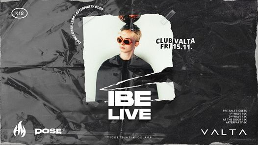 IBE Live & Underhaze Afterparty  15.11  Club Valta