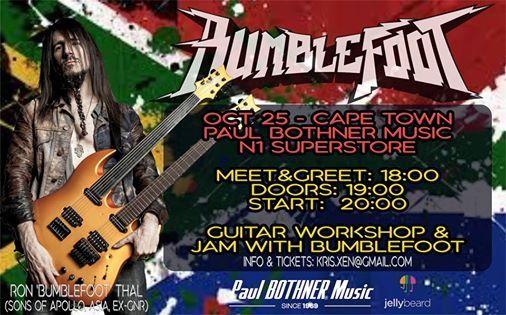 Bumblefoot (USA) Masterclass & Jam at Paul Bothner N1 City
