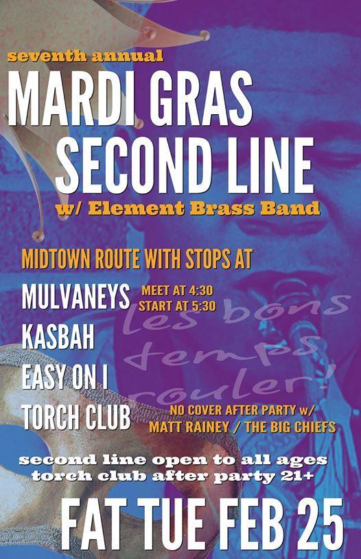 7th Annual Mardi Gras Second Line w Element Brass Band