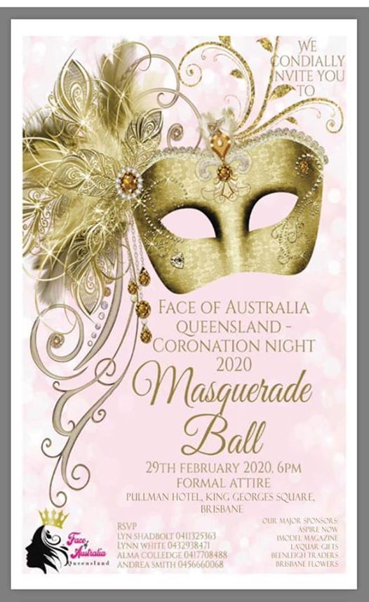 Face of Australia Queensland  CORONATION NIGHT 2020