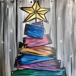 Paint Nite - Barn Board Christmas Tree