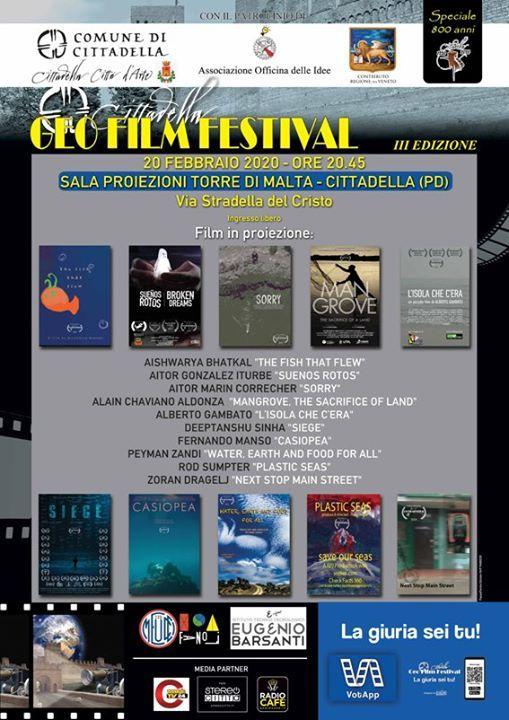 Quinta serata CittadellaGeofilmFestival 3 Edizione Speciale 800