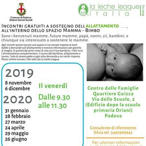 Padova (quartiere Guizza) - Incontro LLL sostegno allattamento