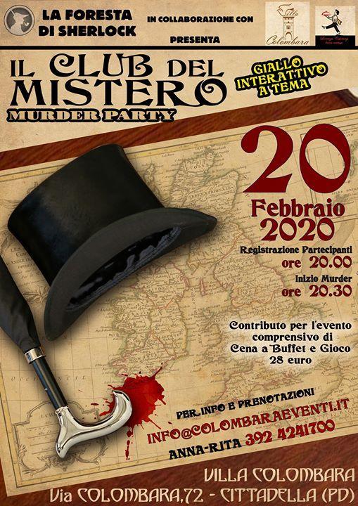 Mder Party - Il Club del Mistero 20 febbraio