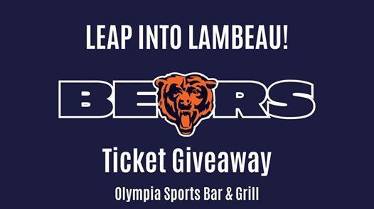 Leap in Lambeau BearsPackers Ticket Giveaway