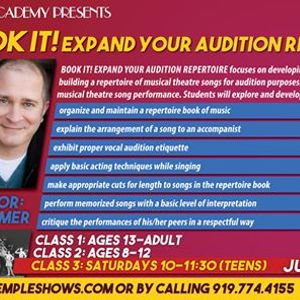 Book It Expand Your Audition Repertoire