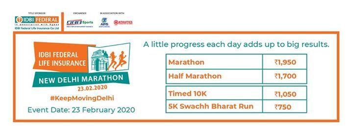 IDBI Federal Life Insurance New Delhi Marathon 2020