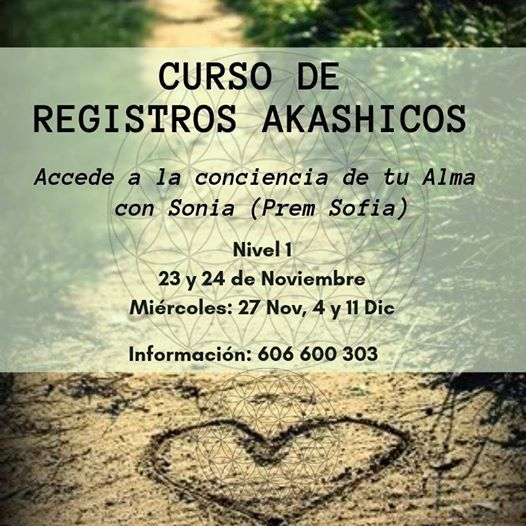 Curso Registros Akashicos Nivel 1 Barcelona