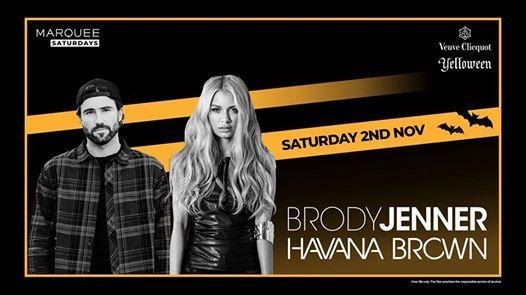 Brody Jenner & Havana Brown at Marquee Sydney