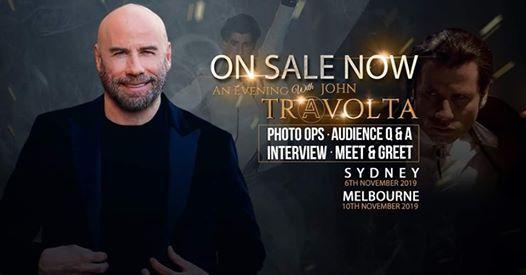 An Evening With John Travolta - Sydney 6 Nov - The Star