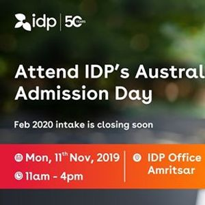 Attend IDPs Australia Admission Day  Amritsar