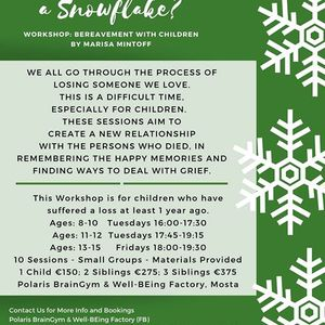 Grief is Like a Snowflake - Workshop Bereavement with Children
