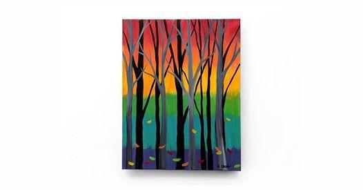 Rainbow Forest Canvas Class