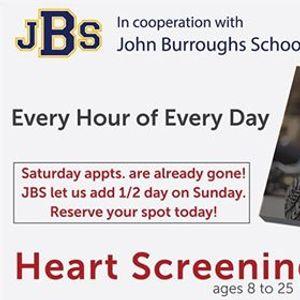 Heart Screenings hosted by John Burroughs