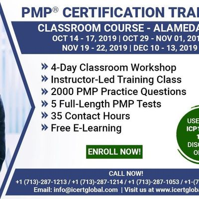 PMP Certification Training Course in Alameda CA USA