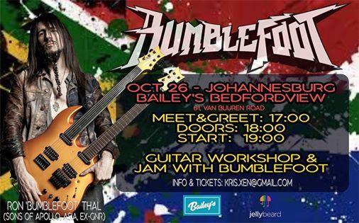 Ron Bumblefoot Thal (USA) Masterclass & Jam at Baileys JHB
