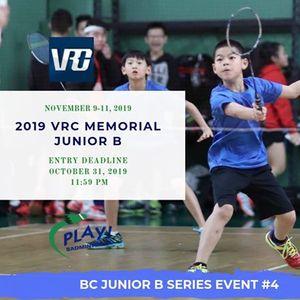 2019 VRC Memorial Jr B - BC Junior B Series 4
