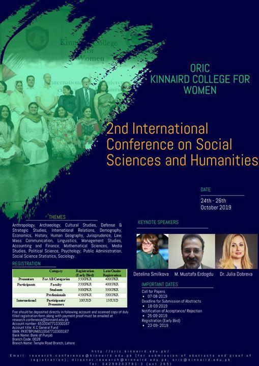 Kinnairds 2nd International Conference in Social Sciences & Hum