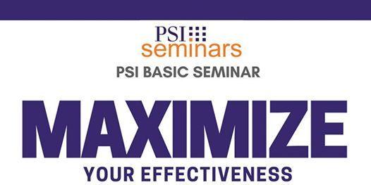 PSI Basic Seminar - DC November 2019