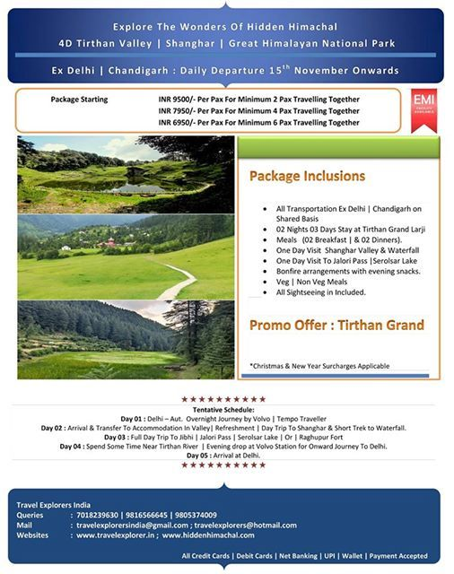 Exclusive 4D Tirthan Valley With Great Himalayan National Park