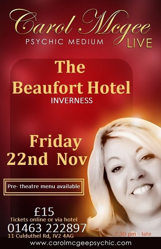 Carol McGee Live at The Beaufort Hotel Inverness 22nd Nov