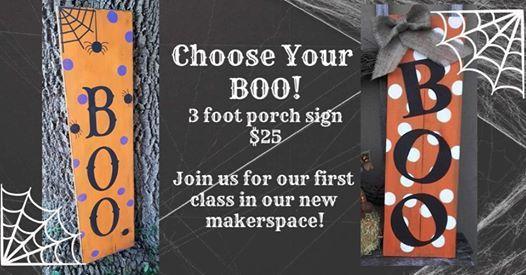 Boo Porch Sign
