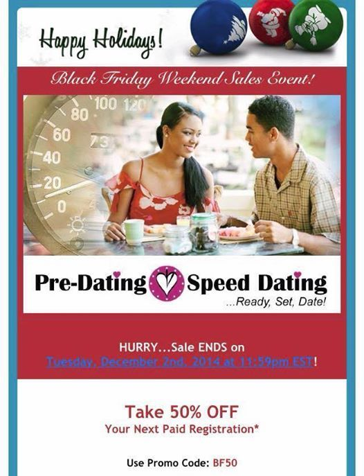 pre dating speed dating promo-code Funny dating verhalen Yahoo