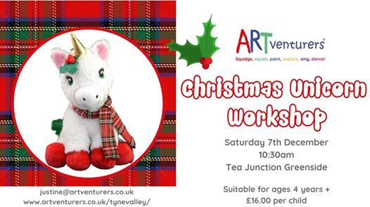 Christmas Unicorn Workshop - Tea Junction Greenside