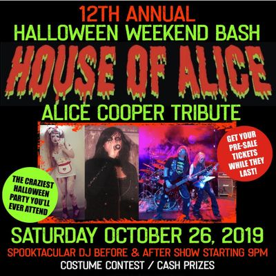 12th Annual HALLOWEEN BASH with HOUSE OF ALICE
