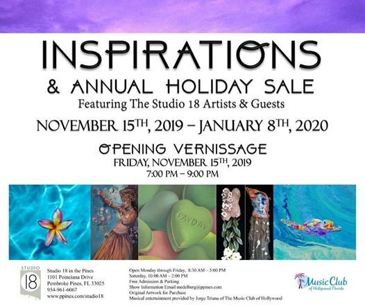 Inspirations and Holiday Sale at Studio 18