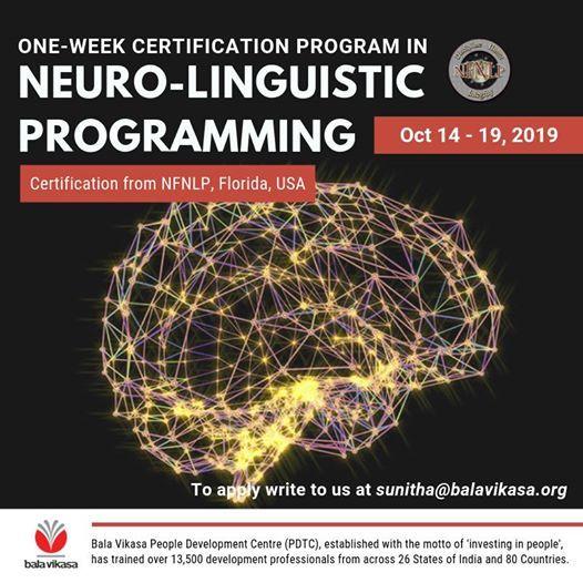 Basic Practitioner Certification Program in NLP
